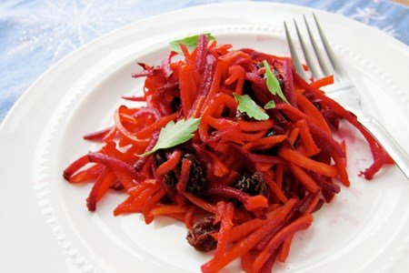 Grated Carrot and Beet Salad Recipe