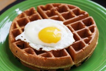 Savory Corn Meal Waffles