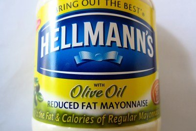 that is Hellmann's mayonnaise made with olive oil and cage free eggs ...