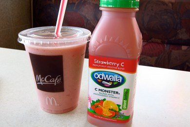 McDonald's Smoothie vs. Odwalla Smoothie