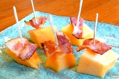 Bacon Cantaloupe Bites