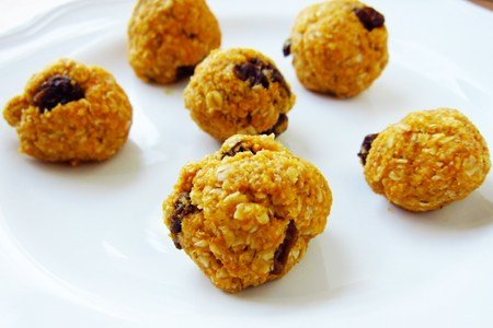No Bake Pumpkin Oatmeal Cookie