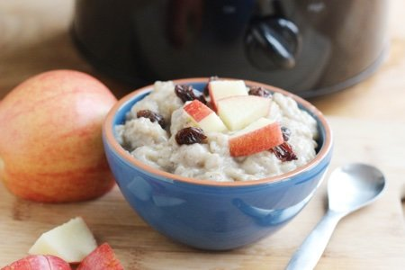 Crockpot Oatmeal with Old Fashioned Oats