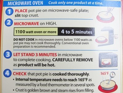 frozen pie cooking instructions