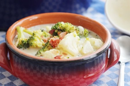 Roast Cauliflower Broccoli Soup