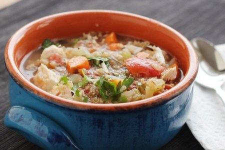 Slow Cooker Quinoa Chicken Soup