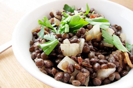Easy Warm Lentil Salad