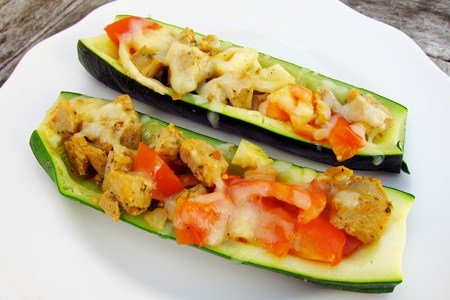 Light Stuffed Zucchini Recipe